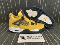 Authentic Air Jordan 4  RETRO LS 'LIGHTNING