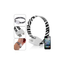 Magnetic Bracelet Style Lightning 8-Pin USB Sync Data and Charging Cable  - Black + White