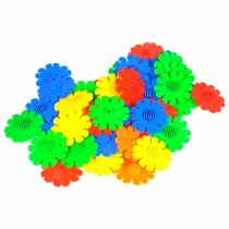 102pcs 5cm DIY Multicolor Plastic Sunflower Snowflake Building Blocks Children Puzzle Educational Toy  for 3-year-old or above