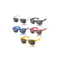 5pcs Stylish Plastic Frame PVC Lens Sunglasses for Outdoor Use - 5 Colors