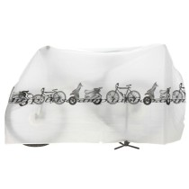 82.6*39.3 Inch Large Capacity Waterproof Dustproof Bike Cover for Outdoor Mountain Road/Electric/Cruiser Bikes - Grey