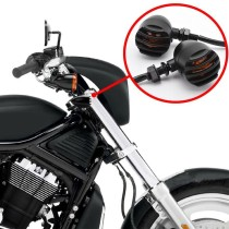 2Pcs Oschool Motorcycle Retro Front Rear Turn Signals Indicators Mini Bullet Blinkers Lights For Harley