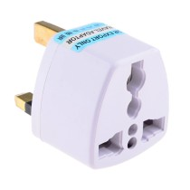 Universal UK Plug Travel Adapter - White