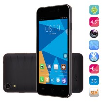 DOOGEE VALENCIA DG800 Smartphone Creative Back Touch Android 4.4 MTK6582 4.5 Inch OTG -Black