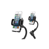 Double USB Car Charger with Adjustable Cradle