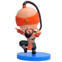 8cm  League Q Version Blind Monk Plush Doll Kids Stuffed Toys Car Furnishing Articles