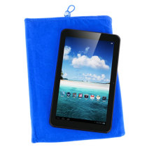 Soft Cloth Bag Case Pouch Pocket for 8 inch Tablet PC with Closure - Blue