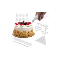 100 Piece Cake Decorating Kit Complete Decoration Set - White