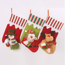 Snowman Christmas Socks Gift Bag Hanging Bag Stockings Indoor Decor