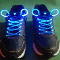 Stylish Ultra Bright LED Luminescent Shoelace/ Magic Shoelace - Blue+ Black