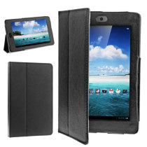 Soft PU Leather Case Protective Cover for Google Nexus7 - Black