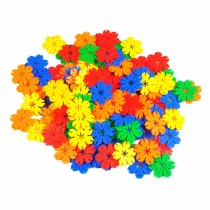 180pcs 4.5cm DIY Multicolor Plastic Tree Leaves Snowflake Building Blocks Children Puzzle Educational Toy for 3-year-old or above