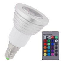 E14 3W Remote Control LED Bulb Light 16 Color RGB Changing Lamp