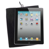 Soft Cloth Bag Case Pouch Pocket for 9.7 inch Tablet PC with Closure - Black