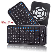 iPazzPort 82 Keys 2.4G Mini Wireless USB Handheld Keyboard for PC Laptop Black