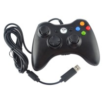 USB Wired Controller for Xbox 360 Console & PC(Black)