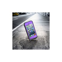 High Quality 2M Waterproof Case with 3.5mm Audio Cable and Cleaning Cloth  - Purple