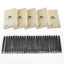 Jinhao Fountain Pen Refill Portable Ink Cartridges International Size 25Pcs - Black