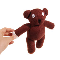 Cute Mr Bean Bear Bear Doll Plush Figure Brown