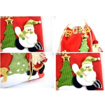 Christmas Gift Pouch Santa Clause Drawstring Gift Bags