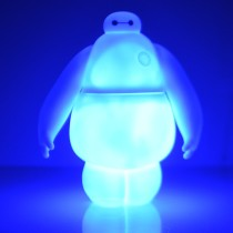 Flashing Baymax Doll Money Can Movable Hand and Waist Toy with Light