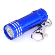 Portable 3-LED Mini Flashlight Keychain - Blue