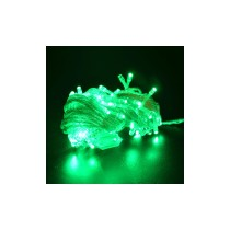 220V 10M 8-Mode 100LED Green String Lights with Connector for Christmas Decoration (EU Plug) - White