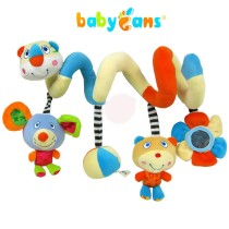 Multifunction Baby Bed Plush Cartoon Toy Kid Pram Crib Ornament Hangings