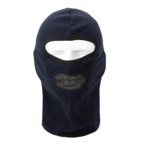 Outdoor Sports Windproof Breathable Fleece Face Mask Neck Warmer Balaclava Cap Hat Headwear for Skiing Bike Riding Cycling - Black