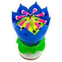 Amazing Birthday Intelligent Musical Lotus Candle( Single Layer Candle,8-Candle)