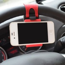 Car Steering Wheel Phone Socket Holder Mount Fits , 5G, 4, 4S, HTC, Samsung Galaxy, PDA and Smart Cell phones (Max Screen Size 4.8inch)