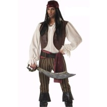 Men's Caribbean Pirate Cosplay Costume Set for Halloween Parties