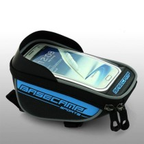 Waterproof Touch Screen Phone Case Bike Handlebar Bag Front Frame Tube Bag - Red