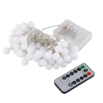 5M 50 LED Battery Powered Ball Fairy String Light Wedding Party Decor - Warm White