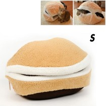 Hamburger Style Shell Nest Windproof Waterproof Removable Pet Cat Bed House Thermal Hiding(Size S)