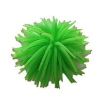 Soft Silicone Simulation Coral Sea Urchin Ornament for Aquarium Fish Tank - Red