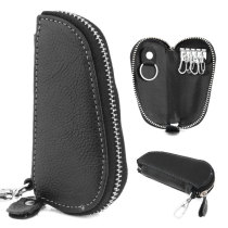 Leather key Chain Wallet Zipper Holder Key Pouch 608