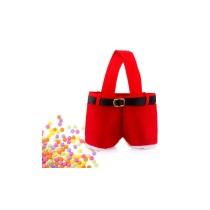 Cute Santa Pants Treat Candy Bag Tote for Christmas Gift
