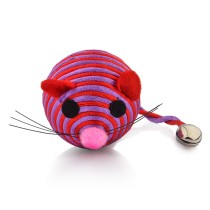 Lovely Nylon Rope Funny Ball Simulation Mouse Toy with Little Bell for Kitty Cat