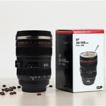 24-105mm Lens Mug/Cup Stainless Steel Insulated for Coffee and Refreshments