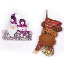 Milu Deer Christmas Socks Gift Bag Hanging Bag Stockings Indoor Decor
