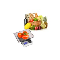 3kg/0.1g Electronic Digital Kitchen Scale - Silver