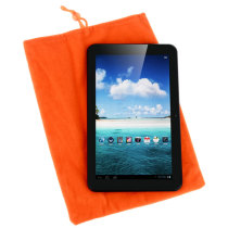 Soft Cloth Bag Case Pouch Pocket for 8 inch Tablet PC with Closure - Orange