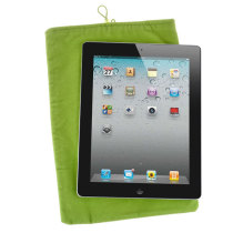 Soft Cloth Bag Case Pouch Pocket for 10.1 inch Tablet PC with Closure - Green
