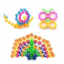 500pcs 3.1cm Multicolor Plastic Snowflake Building Blocks Children Puzzle Educational Toy