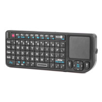 Handheld 2.4G Mini Wireless Keyboard with Touchpad+ Red Laser - Black