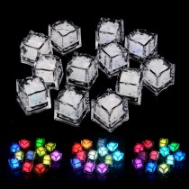 Quick Flashing LED Freezable Ice Cubes Rocks 12 Pcs Pack