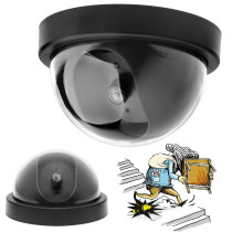 Dummy Security Camera with Dome Shape with Blinking LED