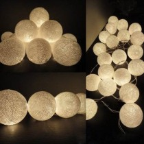 20 Balls/Set 20 Creamy White Cotton Balls Fairy String Lights Christmas, Wedding, Halloween, Gift