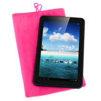 Soft Cloth Bag Case Pouch Pocket for 7 inch Tablet PC with Closure - Pink